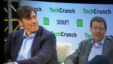 Tim Armstrong and Fred Wilson appeared together at TechCrunch Disrupt