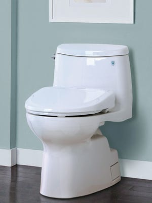 When a homeowner saw the toilet seat in her bathroom left up, she knew an intruder had been there.