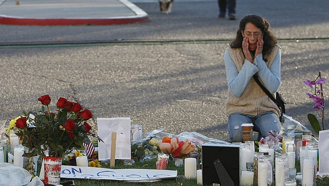 Gabrielle Giffords shooting: Giffords, a Democrat from southern Arizona who had recently won a third U.S. House term, was shot in the head and nearly killed in an assassination attempt at a constituent event at a Safeway near Tucson on Jan. 8, 2011. The mass shooting killed six people, including U.S. District Court Judge John Roll and Giffords' aide Gabe Zimmerman. Another 12 were wounded, including Ron Barber, Giffords' district director who eventually would succeed her in Congress. Gunman Jared Loughner pleaded guilty and in 2012 was sentenced to seven life terms and an additional 140 years in prison.
