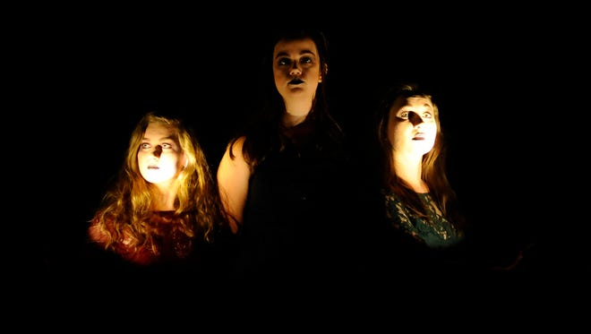 """Jaylin Hensley, Cami Hinds and Schyler Mayo star in the Fourth Wall Theatre Company's """"Eurydice."""""""