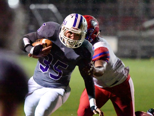 Shawn Newsome earned all-Ohio status as a defensive lineman for Fremont Ross.