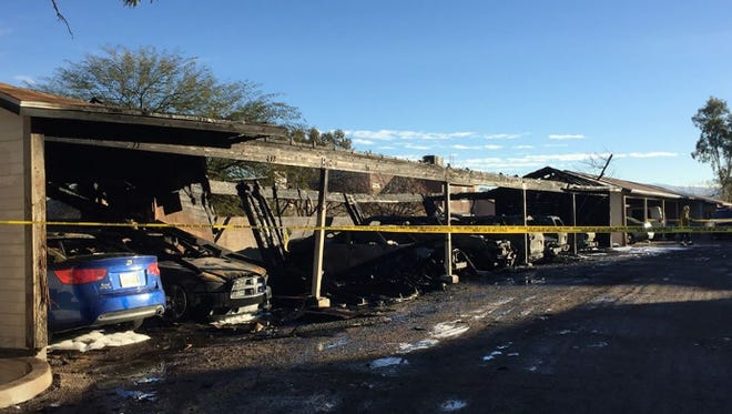 Police are investigating an arson case at an apartment complex in Tucson on Sunday.