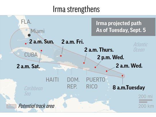 Category 5 storm roars toward the northeast Caribbean