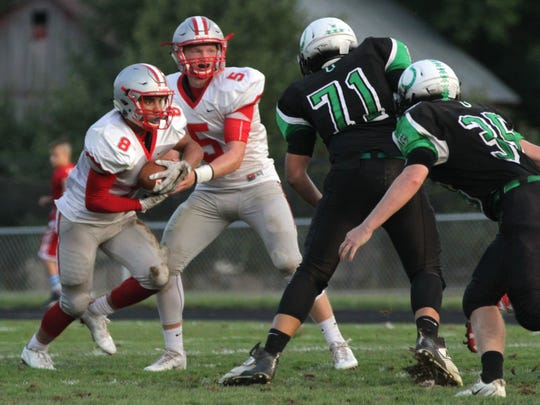 Shelby quarterback Brennan Armstrong and running back Devon Brooks have formed a great one-two punch this season for the Whippets.