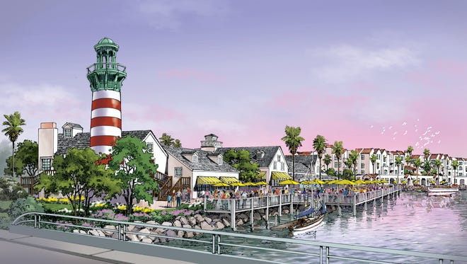 An artist's rendering shows the proposed development at Fisherman's Wharf.