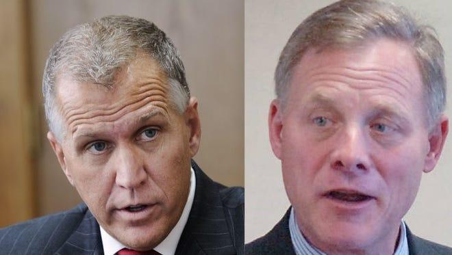 U.S. Sens. Thom Tillis, left, and Richard Burr, both North Carolina Republicans