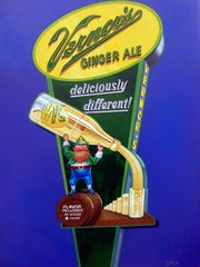 Artist SLAW, who's being featured in a new show at River's Edge Gallery in Wyandotte, recently designed the official poster for the 150th-anniversary celebration of Detroit soft-drink king Vernors.