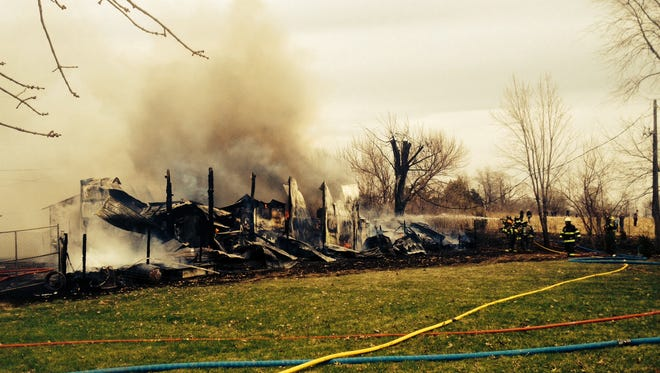 The Des Moines Fire Department provided this picture of a structure fire just south of Des Moines in Warren County.