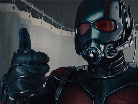 """""""Ant-Man"""" stars Paul Rudd in the title role."""