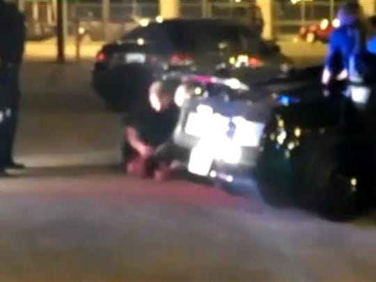 This forceful arrest on Water St. in 2012 was caught on video, and is now the subject of a federal trial.