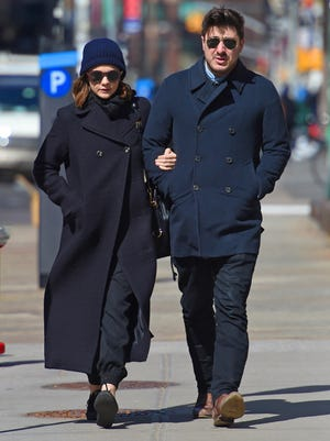 Carey Mulligan and Marcus Mumford in Soho on March  19, 2015 in New York.