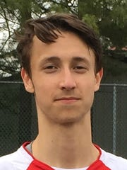 Glen Rock tennis player Joe Shulkin in April 2018.