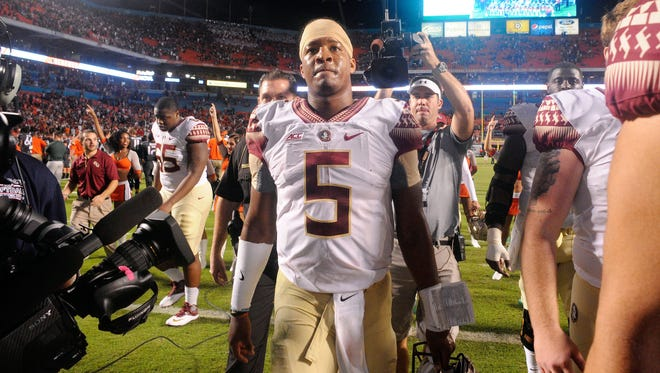 Jameis Winston has not lost a game as Florida State's starting quarterback, but he also has brought extra scrutiny for some controversial off-field incidents.