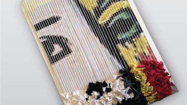 A weaving in progress.