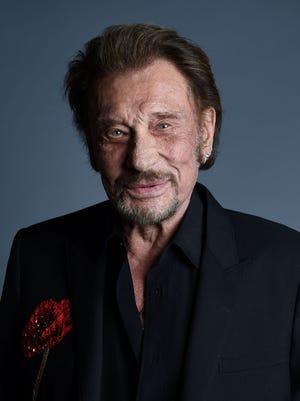 Singer Johnny Hallyday is one  of the biggest stars France has ever produced.