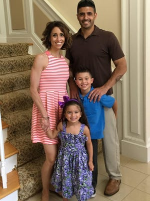 Mike Pasciuto with his late wife DeAnna and their children Anthony and Ava.