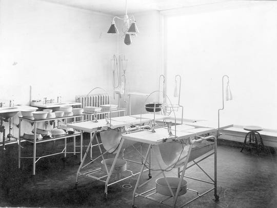 An operating room, circa 1897.
