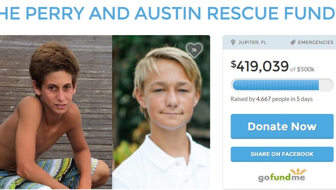 The families of the two missing boys who were last seen buying boat fuel on July 24 created a GoFundMe page to help fund their search and rescue efforts.