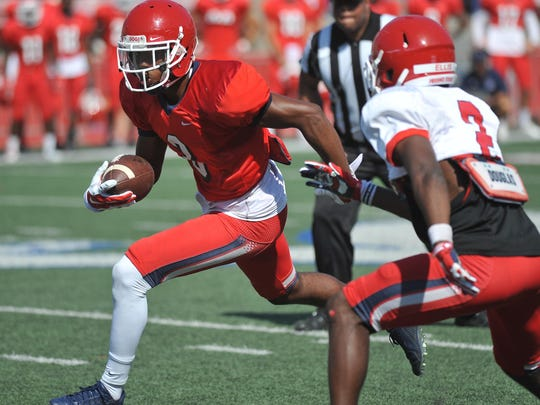 Wide receiver KeeSean Johnson looks for extra yards