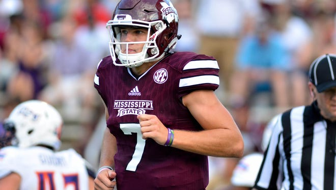 Nick Fitzgerald is the favorite to take over as starting quarterback next year for Mississippi State.