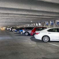 Cars pack the Rankin Avenue parking garage in downtown Asheville.