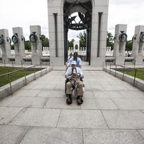 The WWII Memorial opened in 2004.
