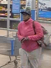 One of the three women accused of taking cell phones from Merrill Walmart.