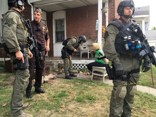 Members of the Delaware County Sheriff's SWAT Team