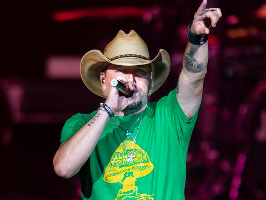 "Jason Aldean's ""High Noon Neon"" tour comes to Ruoff Home Mortgage Music Center in Noblesville, Indiana"