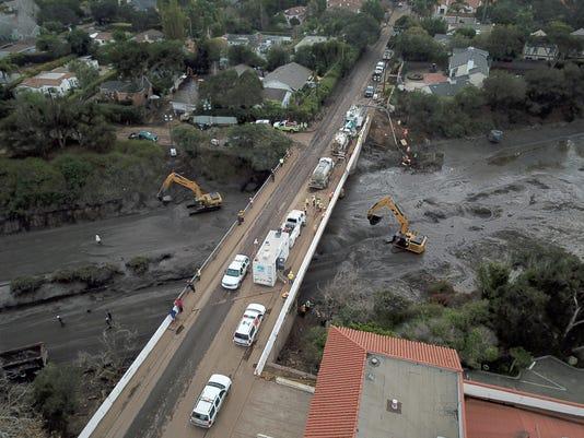 EPA USA CALIFORNIA WEATHER MUDSLIDES DIS METEOROLOGICAL DISASTER USA