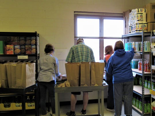 The Shepherd of Hope food pantry is stocked with essential