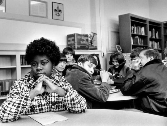 This undated file photo, location unknown, shows Linda Brown. Brown, the Kansas girl at the center of the 1954 U.S. Supreme Court ruling that struck down racial segregation in schools, has died at age 76.