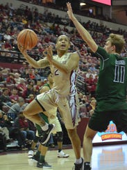 FSU sophomore point guard CJ Walker has played a key
