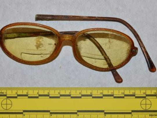 Glasses worn by a woman found in a shallow grave on Lone Mountain.