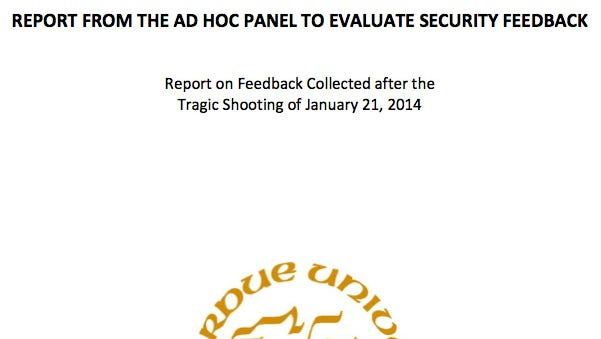 """""""Report on Feedback Collected after the Tragic Shooting of January 21, 2014"""""""