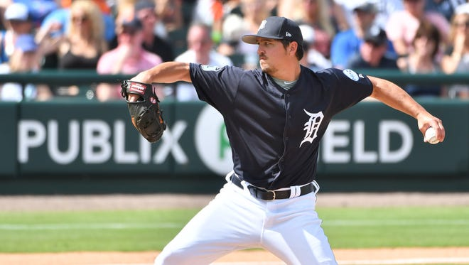 Tigers pitcher Blaine Hardy was among the cuts on Wednesday.
