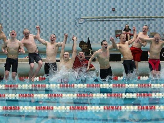 Waukesha South/Catholic Memorial Swim Coach Blaine