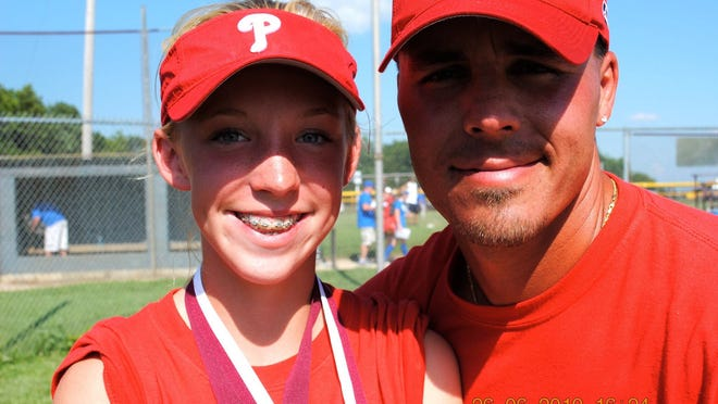 Ryan Berry coached Mariah from T-ball all the way up to high school softball.