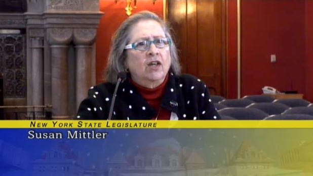 Susan Mittler, the former president of the Ithaca Teachers Association, interviews for a position on the Board of Regents in February 2017.