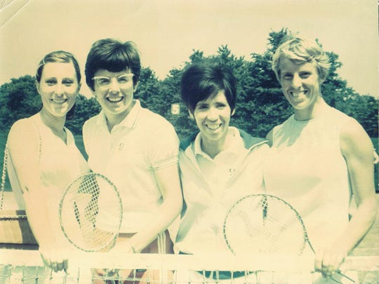 From left, Frankie Durr, Billie Jean King, Rosie Casals and Ann Jones when they were contract pros.