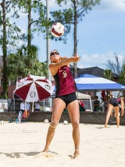 Florida State redshirt junior Katie Horton looks to