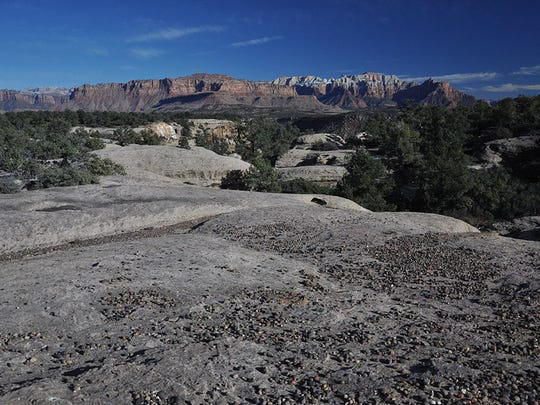 A photograph taken from inside the Dry Creek proposed wilderness area, near where the Bureau of Land Management is considering an oil and gas lease sale this summer.