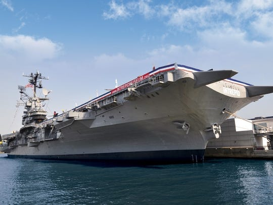 The aircraft carrier known as The Intrepid is a Dad-friendly museum in Manhattan.