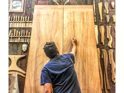 Craftsman Caleb Woodard makes and designs custom furniture