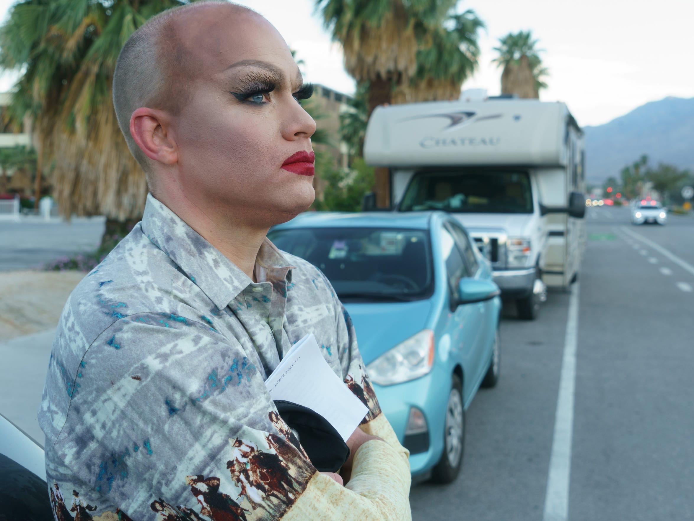 Robert Hopwood arrives at Copa Nightclub in Palm Springs,