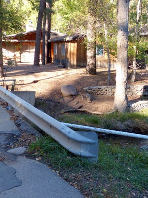 The owner of this cabin near the river received approval for setback variances from the Ruidoso Planning Commission.