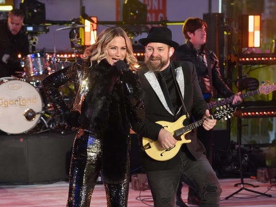 Sugarland performs at the Dick Clark's New Year's Rockin'