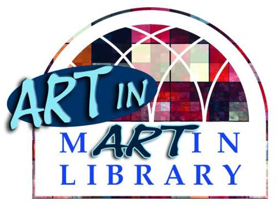 Art in Martin Library logo
