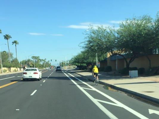 Tempe bike lane reduction