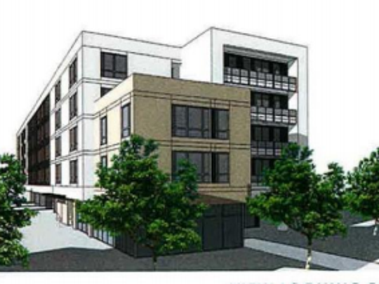 """Rendering of """"Encore on Macdonald,"""" the 71-unit affordable-housing"""